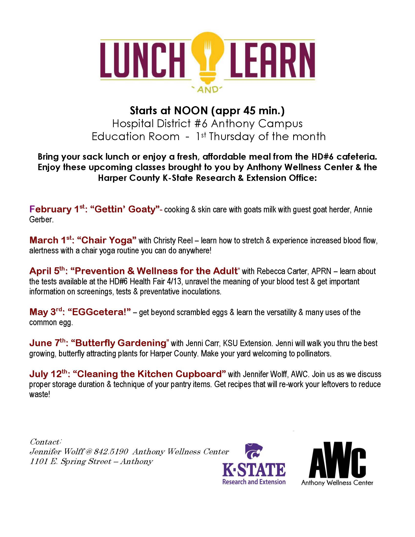 Lunch n Learn 2018